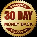 The 30 day money back guarantee sticker